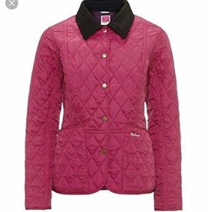 Barbour Pantone fuchsia Liddesdale quilted jacket